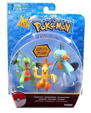 TOMY, Pokemon Action Figure, Grovyle Combusken Marshtomp, New