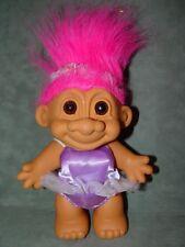 "Troll Doll  7"" Russ Large Purple Ballerina B2"