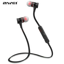 AWEI Sport Wireless Bluetooth Headphone Stereo Headset Earbud For iPhone Samsung