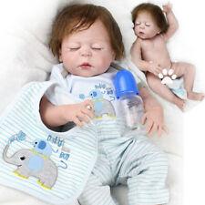 22'' Handmade Reborn Dolls Baby  Full Vinyl Silicone Real Life Newborn Boy Doll