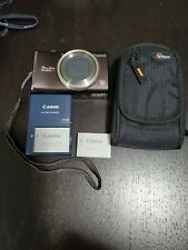 Canon PowerShot SX200IS 12.1 MP Digital Camera W/ 2X Battery, Charger And Case