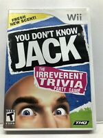 You Don't Know Jack (Nintendo Wii, 2011) Complete w/ Manual - Tested Free Ship