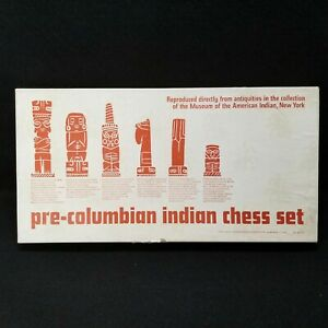 1963 Pre-Columbian Indian Chess Set Complete