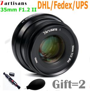 7artisans 35mm F1.2 II Manual Focus Large Aperture Lens for Canon Sony Fuji M43