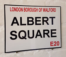 Eastenders Retro Street Sign / Aluminium Metal / Albert Square London Walford