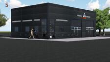 DELTACON Stahlhalle Büro Werkstatt 10 x 15 x LH 4,2/ FH 5,5 m isoliert + neu