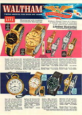 1960 PAPER AD 4 PG Waltham Wrist Watch 100 Jewel Century Rototron