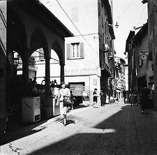 BERGAME c. 1950 - Rue Ville Haute Italie - Négatif 6 x 6 - ITAL 14