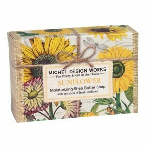 Michel Design Works Sunflower Shea Butter Soap Bar Fresh Sunflower Scent