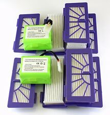2 batteries and 10 filters for Neato XV-15,-11, -12, -25, -21, Signature (Pro)