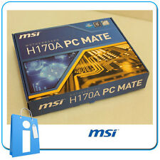 Placa base ATX H170 MSI H170A PC MATE Socket 1151 con Accesorios