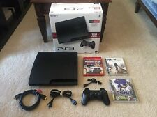 Sony PlayStation 3 160GB PS3 Slim Console System in Box + 3 Games FREE SHIPPING