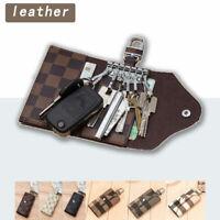 Women Men Leather Wallet Case New KeyChain Card Holder key Organizer Bag keyring