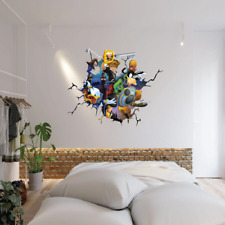 KINGDOM HEARTS SMASH THROUGH WALL STICKER VINYL ART DECAL 3D EFFECT BEDROOM