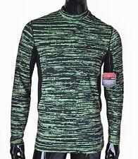 Nike Pro Combat Hyperwarm DRI-FIT MAX FITTED Shirt Mens Medium BLACK VOLT YELLOW