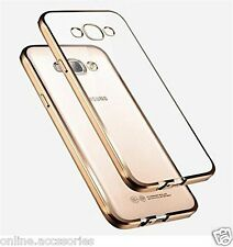 Side Gold Plated Soft Transparent Back Cover Case For Samsung Galaxy J5 2016 New