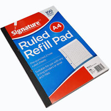New A4 100 Sheets Refill Pad Ruled Paper Margin School & Office Notepads 80 Gsm