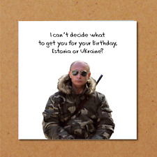 Vladimir Putin Birthday Card Russia World Domination Ukraine Funny Amusing