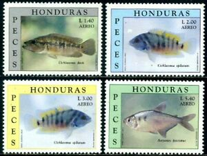 *Honduras 1997 FAUNA Fish Fishes Yv.A.889/92 MNH