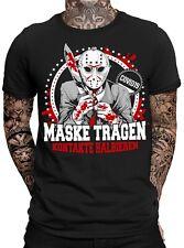 Maske tragen - Kontakte halbieren Jason Herren Fun T-Shirt  | Purge