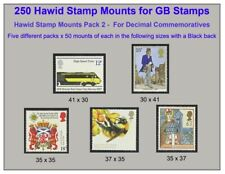 More details for hawid stamp mounts x 5 different sizes x 50 of each size = 250 mounts  save 40%