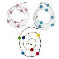 3pcs Reading Glasses Neck Strap Sunglasses Eyeglass Beaded Chain Necklace