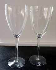2 X ORREFORS WINE GLASSES 1 RED WINE and 1 WHITE WINE