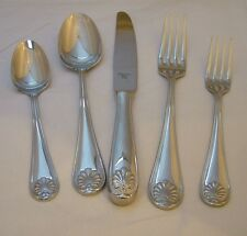Christian Dior stainless Coquille - 5 piece place setting - excellent