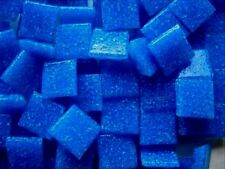 203 Dark Turquoise 110mm Mosaic Tiles.  Best Vitreous Glass Tesserae Craft Tiles