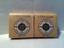 LOT OF 2  L'Occitane Shea Butter Extra Gentle Soap - Milk 100g/3.5oz  EACH