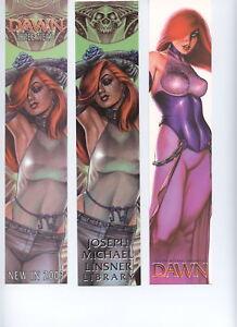 Dawn bookmarks - set of 3 Joe Linsner NM FREE UK POST
