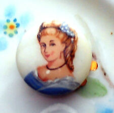 Vintage Clasp Cameo Glass Woman Lady Victorian Old traditional ONS One Strand 1
