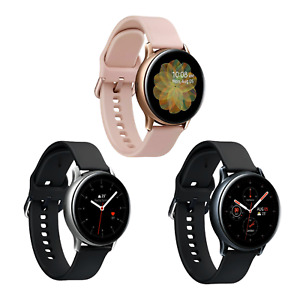 Samsung Galaxy Watch Active 2 - 40mm - LTE - Stainless Steel - Black Gold Silver
