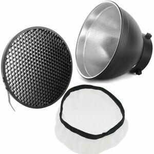 Godox Bowens Mount Standard Reflector with Soft White Diffuser Cloth & Grid Set