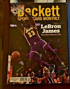 Beckett Sports Card Monthly Magazine August 2020 LeBron James Mint Condition!