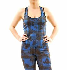 Finders Keepers New Women's Run The World Singlet Print Blue Black Size 1 BCF65
