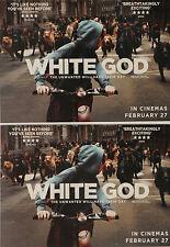 2 X WHITE GOD FILM POSTCARDS - HUNGARY