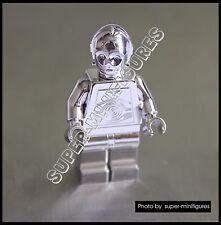 Lego C-3po Silver chrome star wars minifigure  (lego custom)