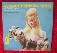 RARE GERMAN DRINKING SONGS VINTAGE 1950's MONITOR LABEL LP MFS419 STEREO VG+