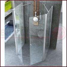 Box Doccia 3 Lati 6 mm Anta Battente Saloon 70 80 90 100 120 Parete in Cristallo