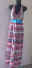 Halter Neck Cotton Casual Geometric Dresses for Women