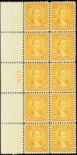 562, Mint VF-XF NH 10¢ Plate Block of 10 Stamps Cat $555.00 - Stuart Katz