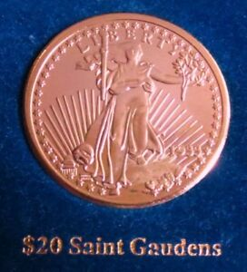 1933  ST. GAUDENS  $20  GOLD-CLAD COIN, One of America's Most Beautiful Coin