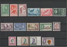 MALAYA SARAWAK 1955, SG 188-202, COMPLETE SET, MNH ** VF