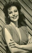 LORETTA YOUNG 30s  VINTAGE POSTCARD #2
