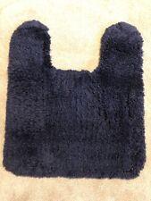 Vintage Dark Navy Shag Bathroom Contour rug Contemporary Shag