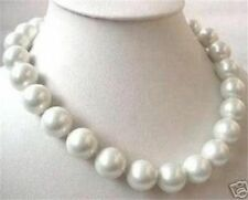 south Shell Pearl necklace 18� Big 14mm Aaa White sea