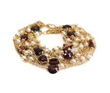 Pulseras de joyería con gemas de oro amarillo de perla