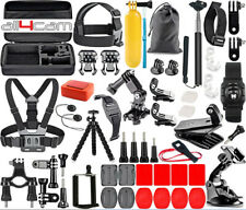 for GoPro HERO 4 5 6 7 8 Accessories Bundle Set Chest Helmet Bike Mount Eva Box