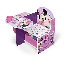 Comfortable Kids Minnie Mouse Desk & Chair Learn Storage Furniture Children Gift